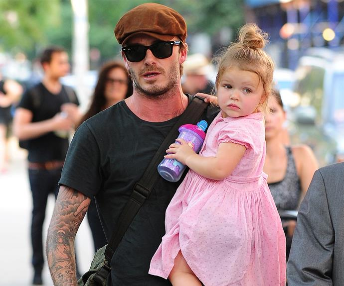 David is fiercely protective of his little girl.