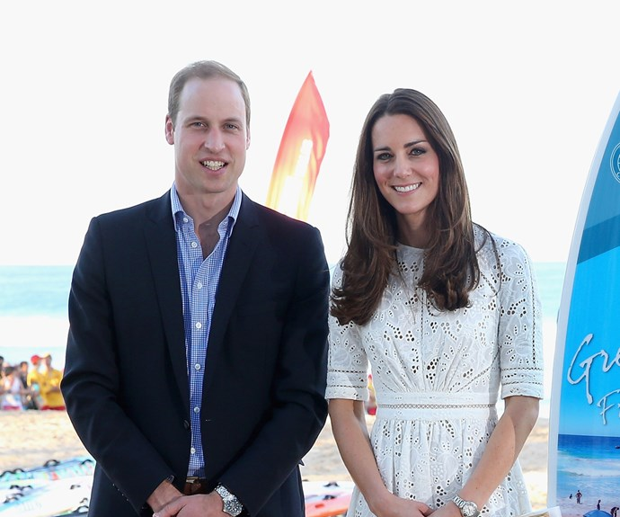 Kate Middleton and Prince William on Manly beach