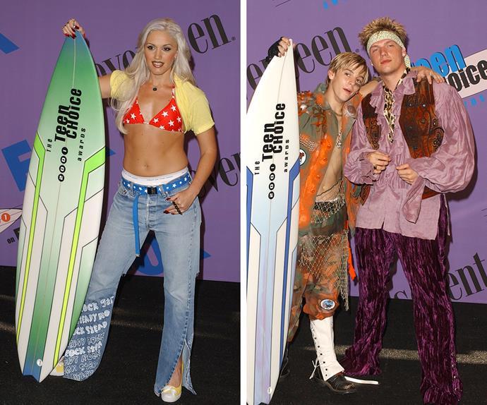 Gwen Stefani, Nick and Aaron Carter at the Teen Choice Awards