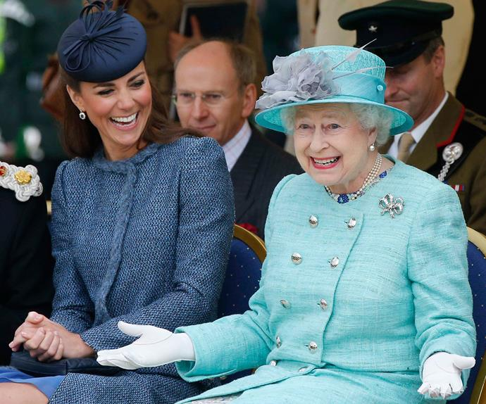 The Queen and Catherine, Duchess of Cambridge
