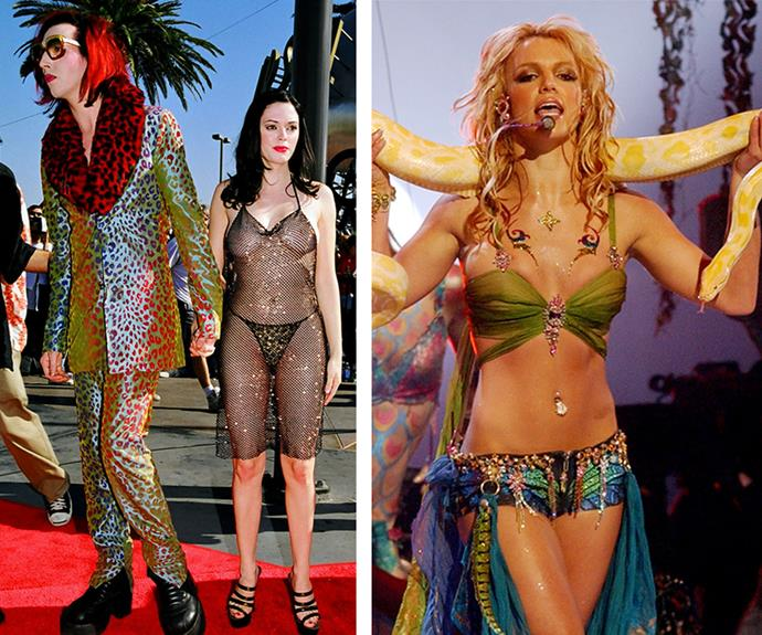 Marilyn Manson, Rose Mcgowan and Britney Spears