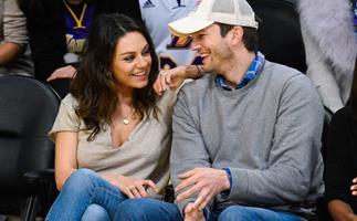 Ashton Kutcher and Mia Kunis