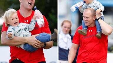 Catch me if you can! Mia and Mike Tindall enjoy daddy-daughter play date