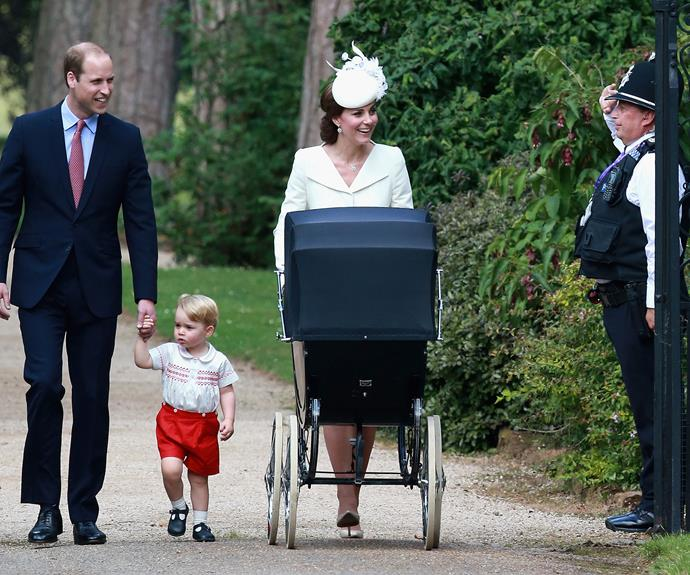 The family walked from Anmer Hall to the church, greeting thousands of well-wishers who had gathered for the [special occasion](http://www.womansday.co.nz/celebrity/royals/2015/7/princess-charlottes-christening/|target=*_blank*)