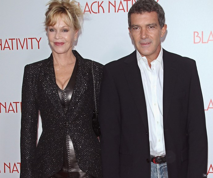 "Antonio Banderas met Melanie Griffith while shooting the 1996 film *Two Much,* and the couple got married that same year. They welcomed a daughter, Stella, in September 1996, but announced their separation in June 2014 over ""irreconcilable differences""."