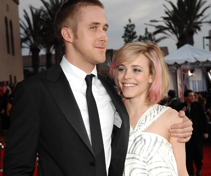We fell in love with them thanks to the weepy (and arguably most famous) Nicholas Sparks film *The Notebook,* but Ryan Gosling and Rachel McAdam's real-life love story unfortunately ended in 2007 after a tumultuous three years together.