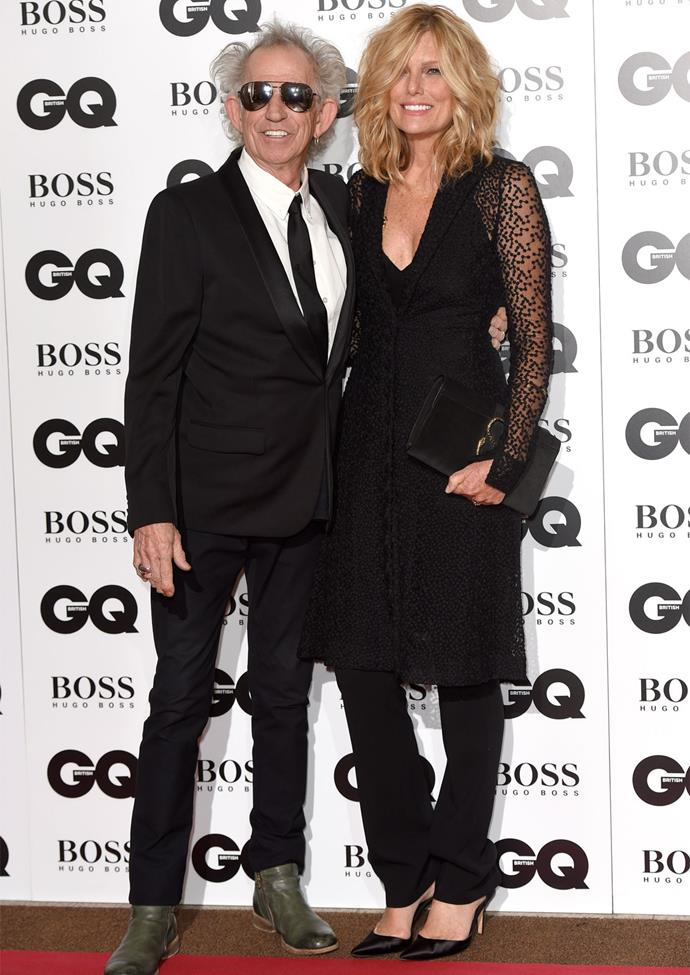 Keith Richards with wife Patti Hansen. Photo: Getty