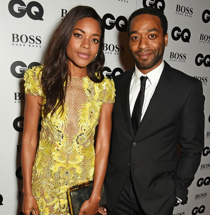 Naomie Harris and Chiwetel Ejiofor pose for a snap together. Photo: Getty