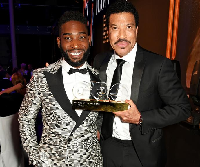 British rapper Tinie Tempah and Lionel Richie, who won Icon of the Year. Photo: Getty