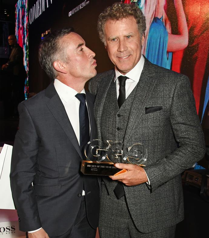 Funny man Will Ferrell, who won Comedian of the Year, with Steve Coogan. Photo: Getty