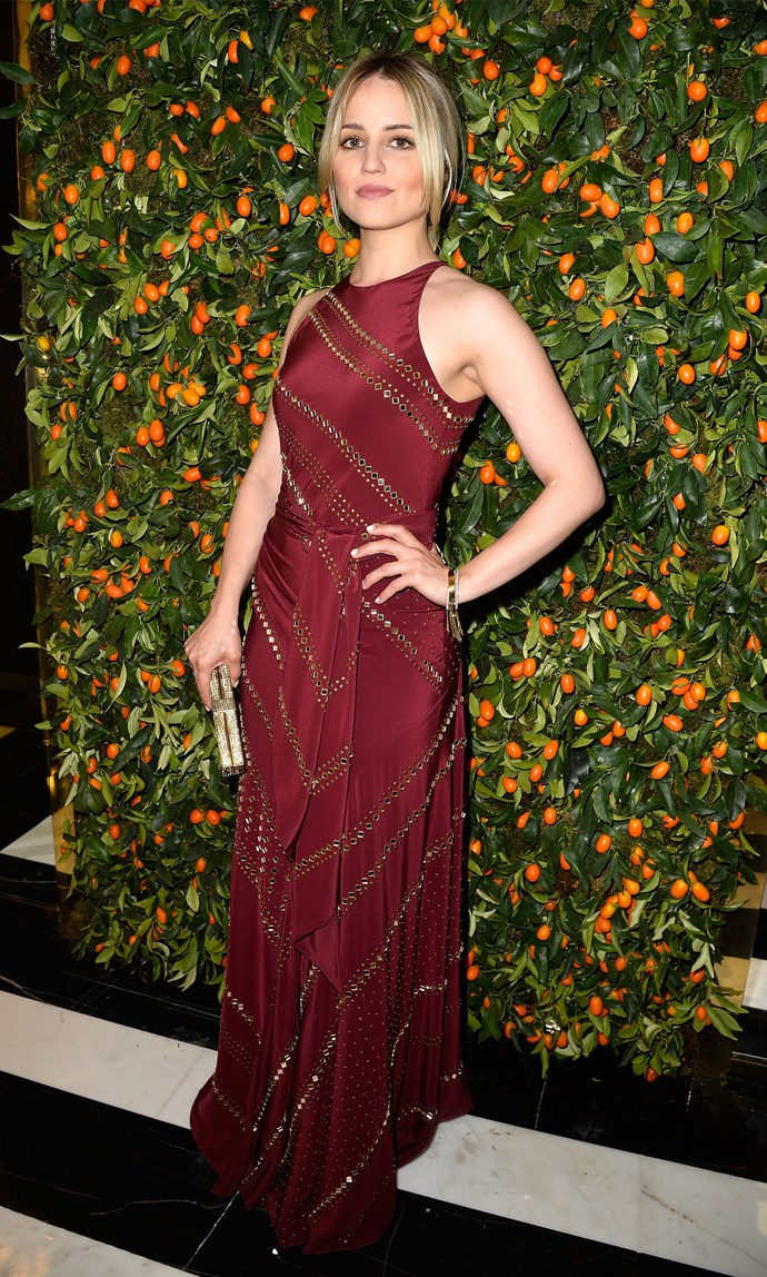 Dianna Agron in Tory Burch at the flagship opening. Image: Pascal Le Segretain/Getty