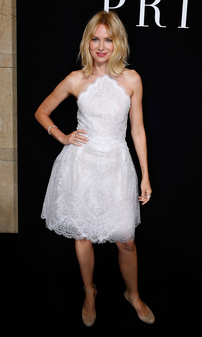 Naomi Watts in Giorgio Armani at the Armani Prive Fall 2015 show. Image: Bertrand Rindoff Petroff/Getty