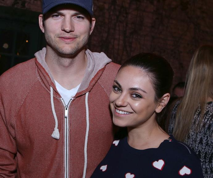 Mila and Ashton pictured at an event earlier this year. *Image: Getty*