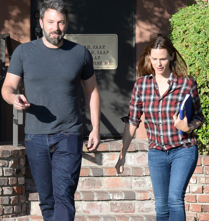 Ben and Jennifer seen together in Santa Monica earlier this month. Photo: Getty