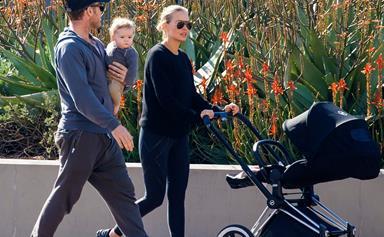 Lara Bingle and Sam Worthington's park date with little Rocket Zot