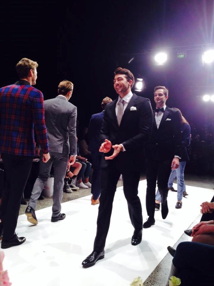New Zealand's very own Bachelor was spotted strutting his stuff at New Zealand Fashion Week today – on the runway for New Zealand Weddings, no less! Photo: New Zealand Weddings Magazine/Facebook