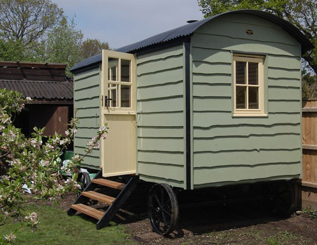 One of the shepherd's huts made by Plankbridge Hutmakers. Image: Plankbridge.com