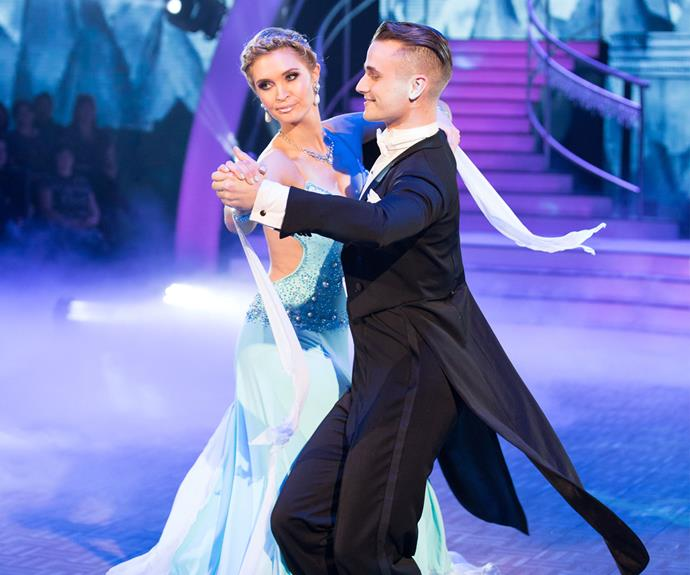 For the Winter Wonderland-themed night, Siobhan went all *Frozen* on us with an elegant waltz.
