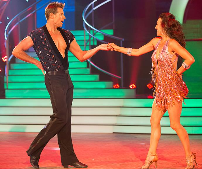 Poor Simon got off to a shaky start with a cha-cha that got him slammed by the judges. He earned 12 points for his first effort on the dancefloor, placing ninth out of ten couples.