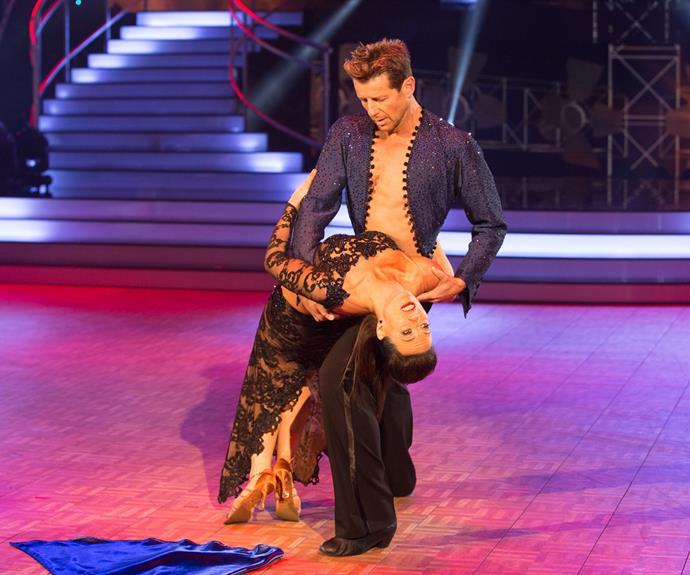 Simon earned his first perfect 10 from judge Candy Lane thanks to his *Rocky*-inspired pasodoble on Movie Night.