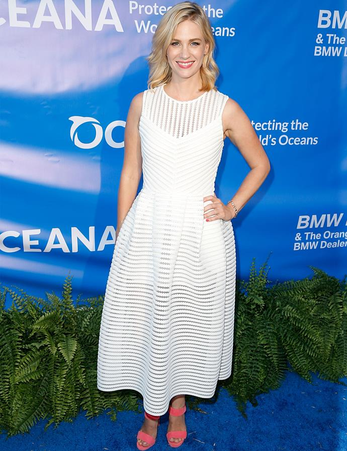 January Jones in Maje at the 8th Annual Oceana SeaChange Summer Party.