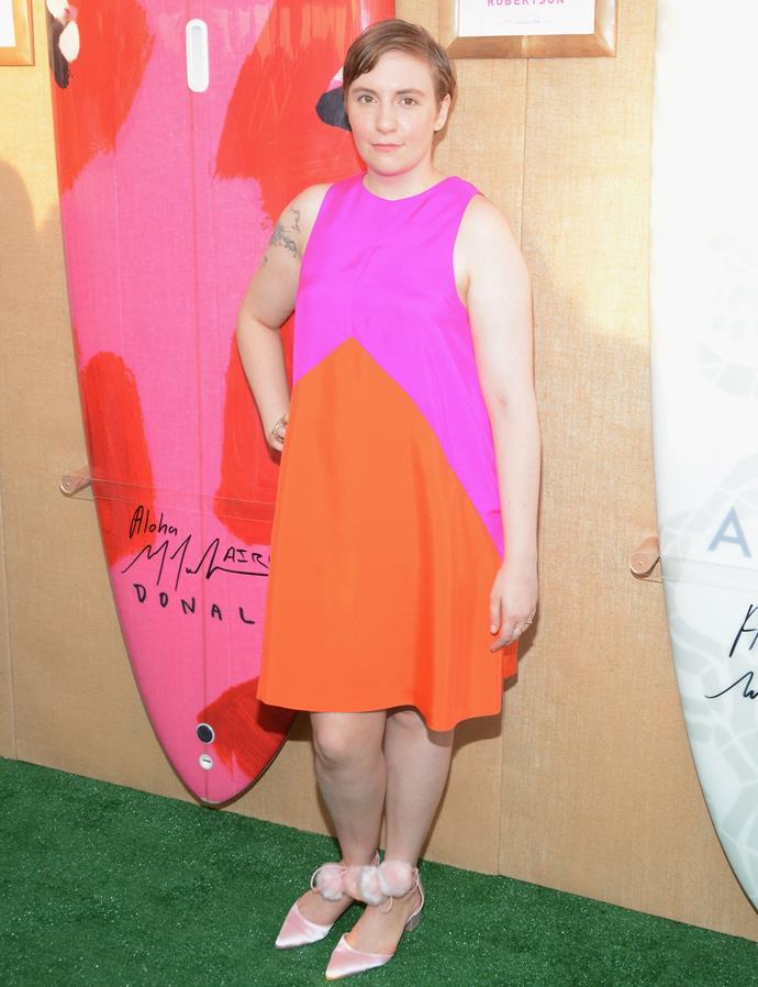 Lena Dunham in Lisa Perry at a Hamptons fundraiser.
