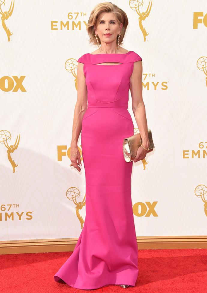 *The Good Wife* star Christine Baranski in Zac Posen