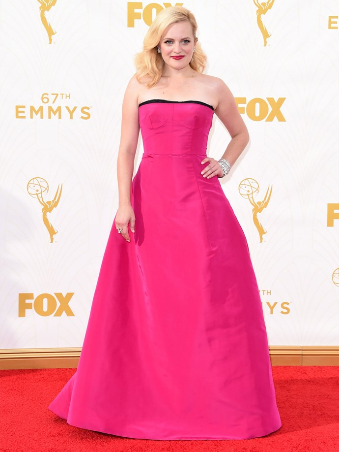 *Mad Men* star Elisabeth Moss in Oscar de la Renta