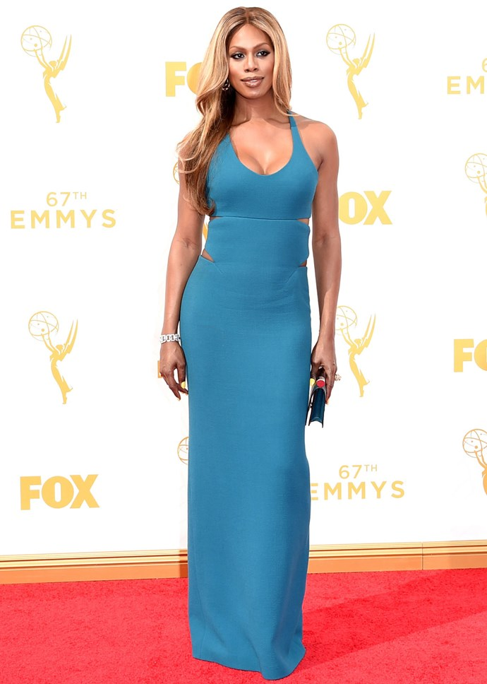 *Orange Is The New Black* star Laverne Cox in Calvin Klein Collection