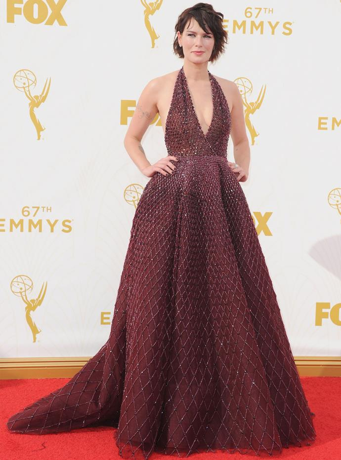 *Game of Thrones* actress Lena Headey in Zuhair Murad Couture