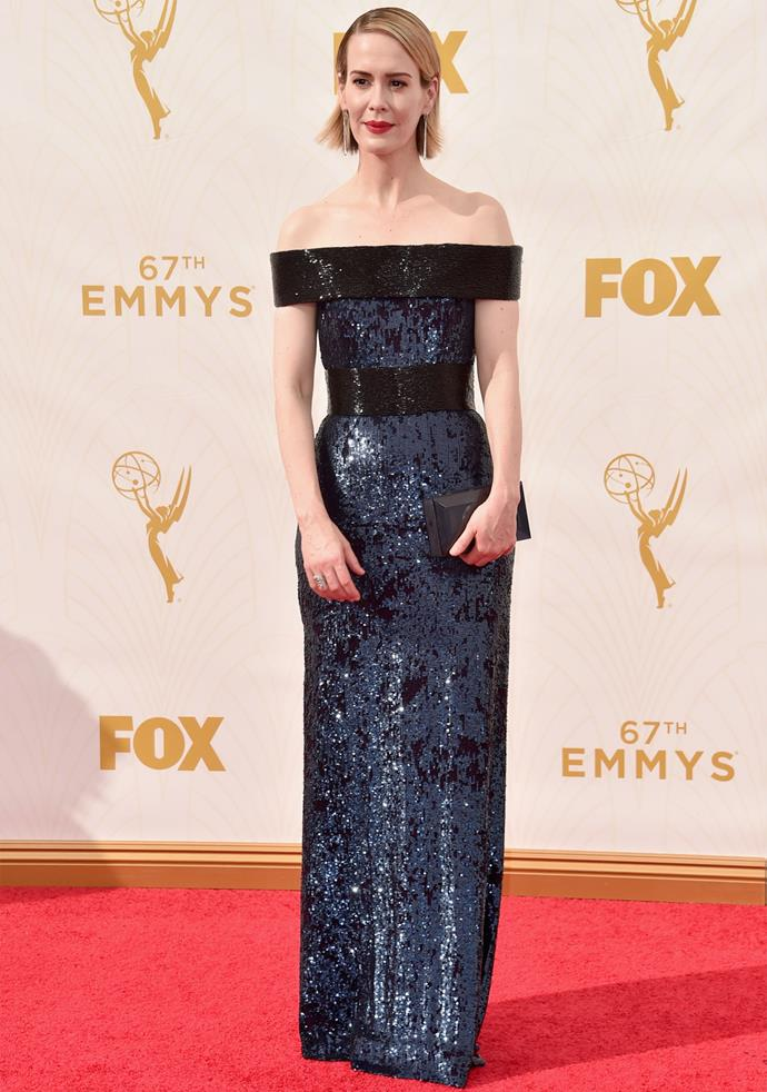 *American Horror Story* actress Sarah Paulson in Prabal Gurung
