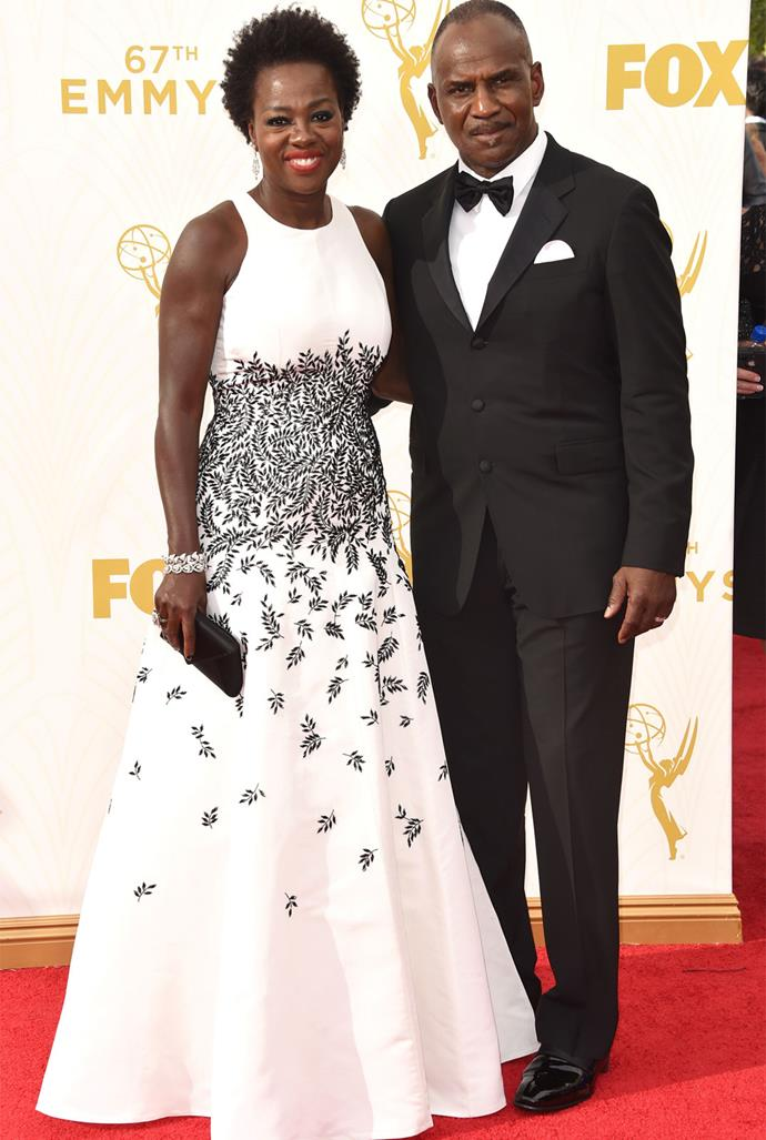 *How To Get Away With Murder* star Viola Davis in Carmen Marc Valvo