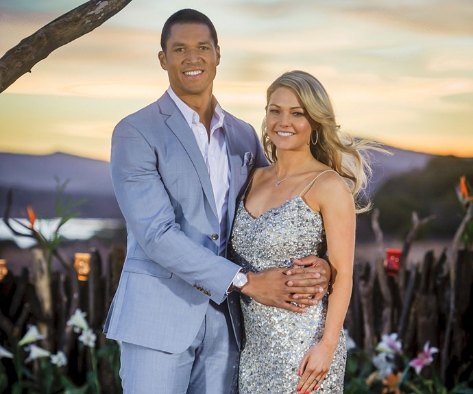 Australian Bachelor Blake Garvey popped the question to Sam Frost on the finale of his season, but the pair's romance ended in flames after he broke things off and reunited with second runner-up Louise Pillidge (the couple broke up in April, while Sam went on to become Australia's first *Bachelorette*).