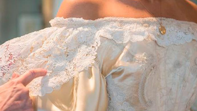 Bride-to-be is 11th in family to wear same wedding dress