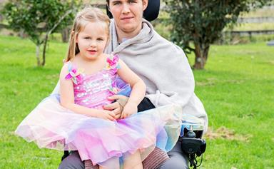 Wheelchair dad's strength: how love is healing me