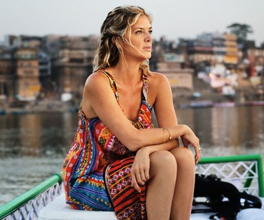 Rachel Hunter finds inner peace in India