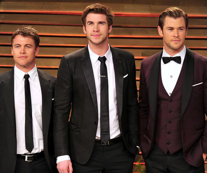 Luke, Liam and Chris Hemsworth