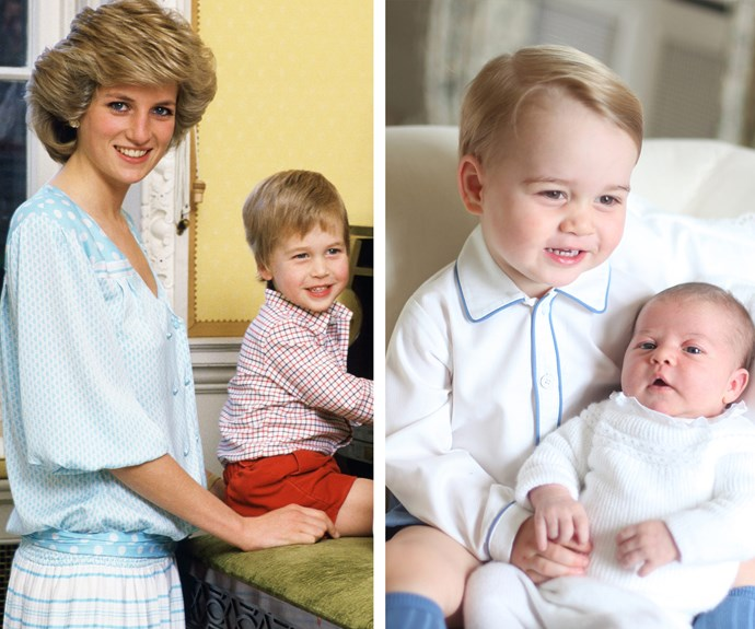 Princess Diana, Prince George, Princess Charlotte