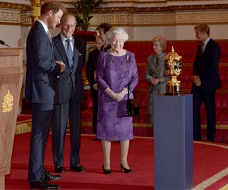 Prince Harry and the Queen's royal rugby reception