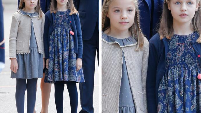 Princess Leonor and Princes Infanta Sofia of Spain