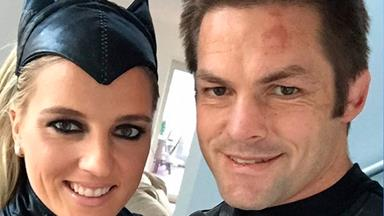 Richie McCaw and Gemma Flynn suit up!