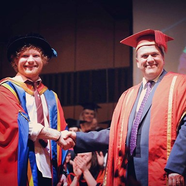 Ed Sheeran awarded honorary degree