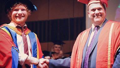 Ed Sheeran awarded honorary degree