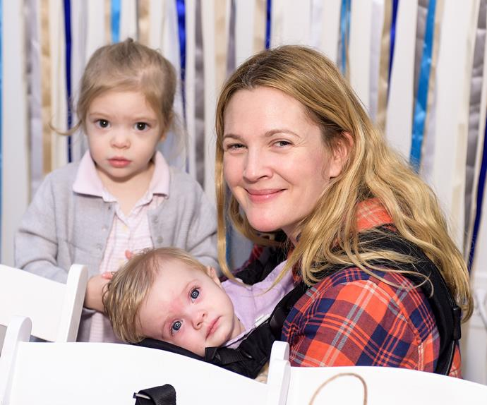 Drew Barrymore and her daughters Frankie and Olive