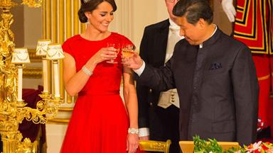 Duchess Kate and Prince William welcome Chinese president