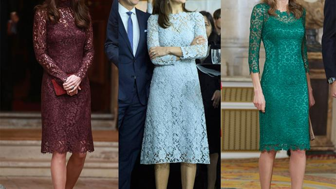 The newest royal trend: lace dresses!