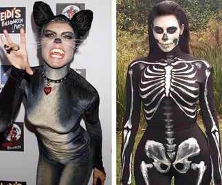 Hedi Klum and Kim Kardashian