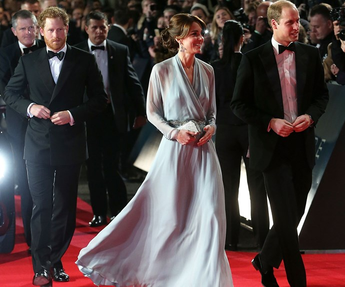October 2015: The royals attend the UK premiere of *Spectre*.