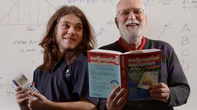 Meet the Aussie grandpa who is joining his grandson back at school