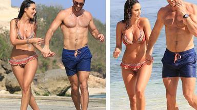 Some like it HOT! Sam Wood and Snezana Markoski's steamy beach PDA